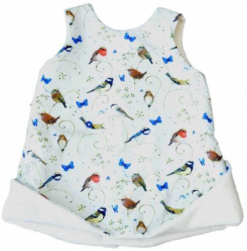 Robe évasée réversible petits oiseaux