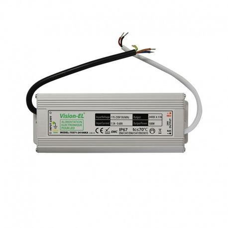 Transformateur alimentation 100w-24v-LED-24V DC-Étanche ip67