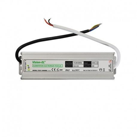 Transformateur alimentation 60w-24v-LED-24V DC-Étanche ip67