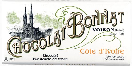 Tablette chocolat noir Côte d'Ivoire 100g