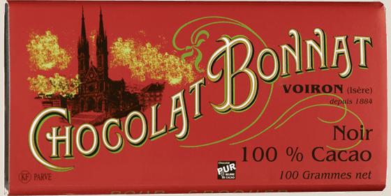 Tablette chocolat noir 100% cacao 100g