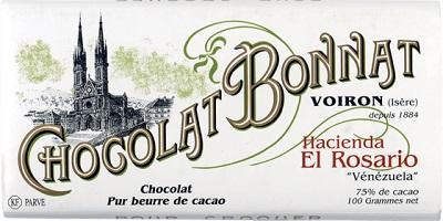 Tablette chocolat noir Hacienda El Rosario (Venezuela) 100g
