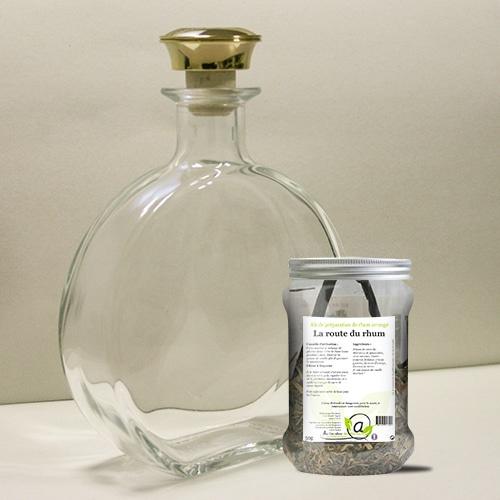Kit de préparation la route du rhum + 1 carafe en verre