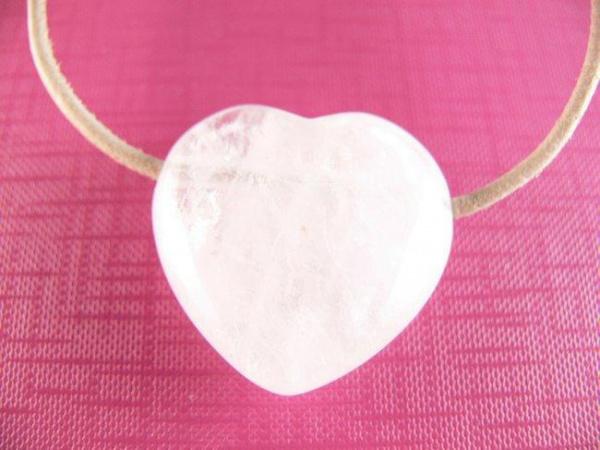 Pendentif grand coeur cristal de roche