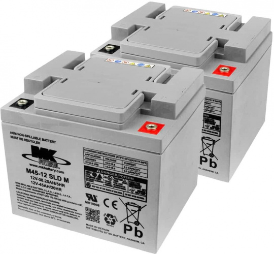 Batteries MK – 2x AGM 45Ah 12V spéciale traction