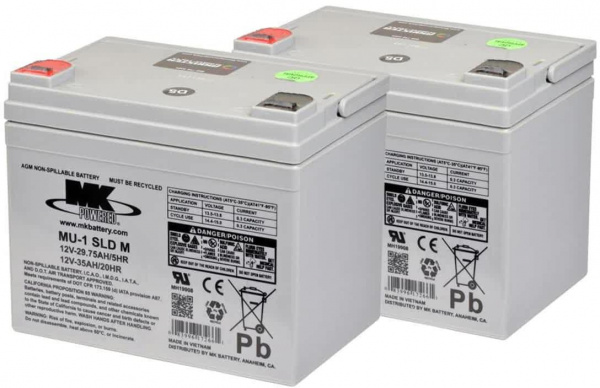 Batteries MK – 2x AGM 35Ah 12V spéciale traction