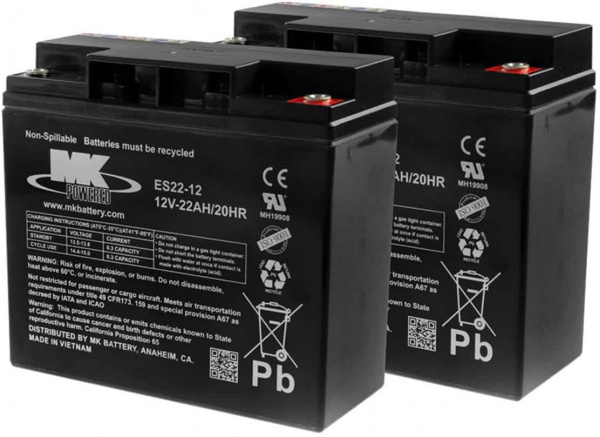 Batteries MK – 2x AGM 22Ah 12V spéciale traction