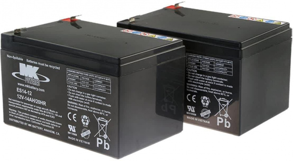 Batteries MK – 2x AGM 14Ah 12V spéciale traction