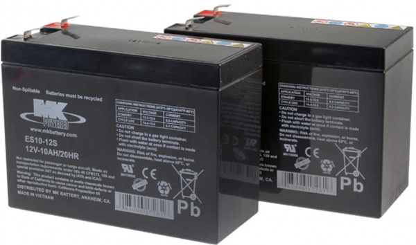 Batteries MK – 2x AGM 10Ah 12V spéciale traction