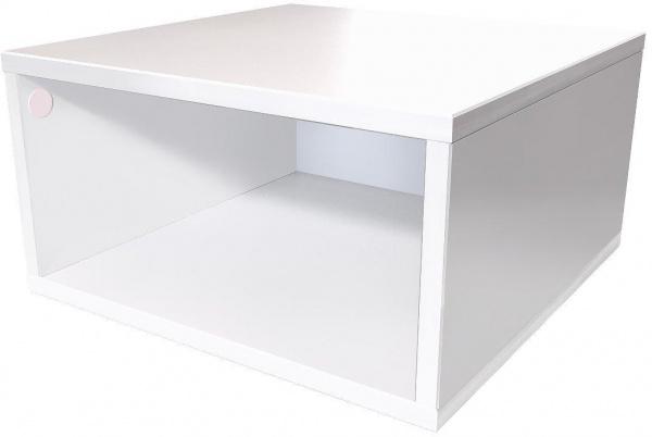 Cube de rangement 50x50 cm bois 50x50 blanc - abc meubles