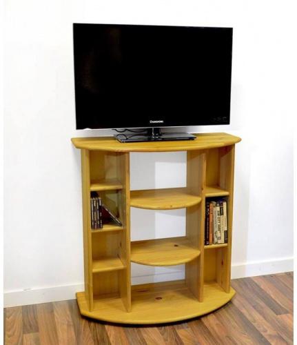 Meuble tv/hifi bois miel - abc meubles