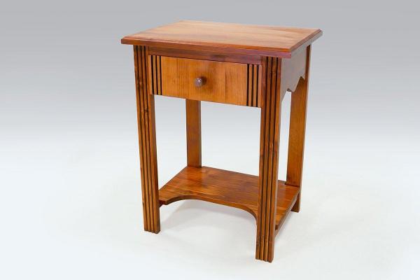 Table basse bois + 1 tiroir merisier - abc meubles
