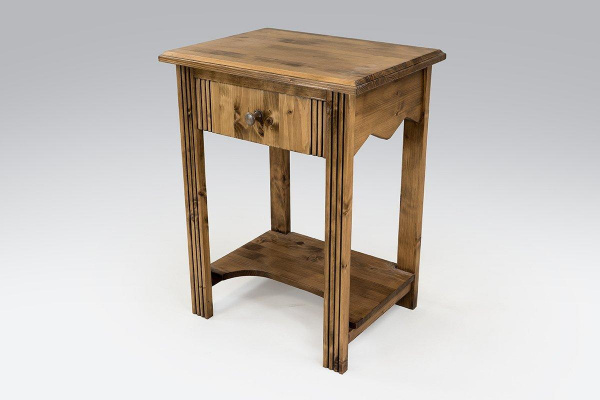 Table basse bois + 1 tiroir sapin vernis - abc meubles