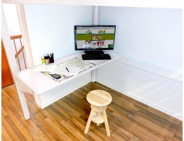 Bureau tablette blanc largeur 90 - abc meubles