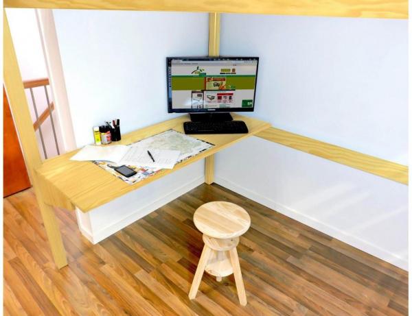 Bureau tablette miel largeur 90 - abc meubles