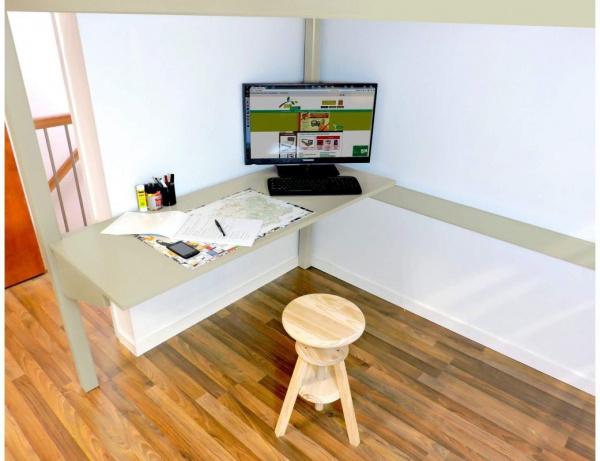 Bureau tablette largeur 90 moka - abc meubles