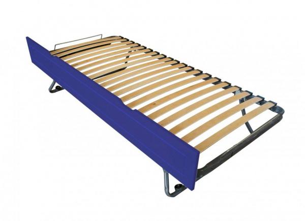 Tiroir lit sommier relevable pin bleu foncé 90x190 - abc meubles
