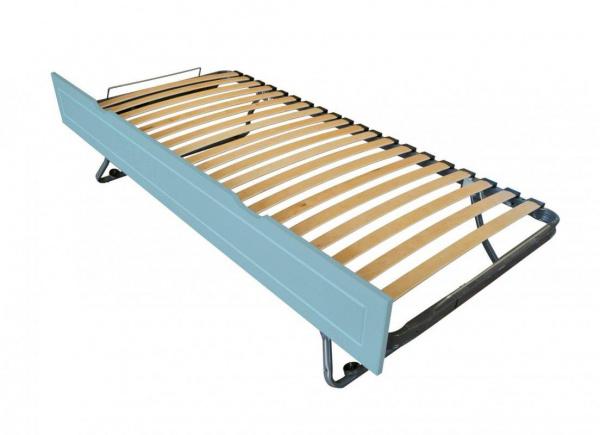 Tiroir lit sommier relevable pin bleu pastel 90x190 - abc meubles