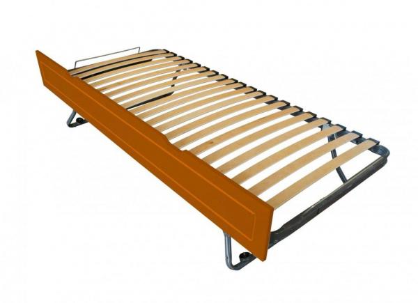 Tiroir lit sommier relevable pin chocolat 90x190 - abc meubles