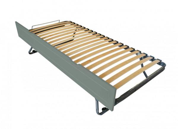 Tiroir lit sommier relevable pin gris 90x190 - abc meubles