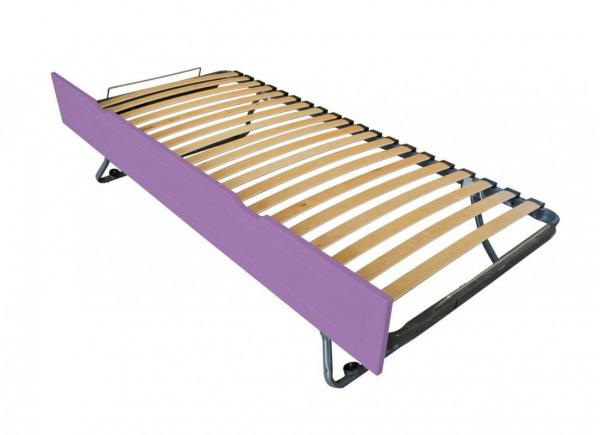 Tiroir lit sommier relevable pin lilas 90x190 - abc meubles