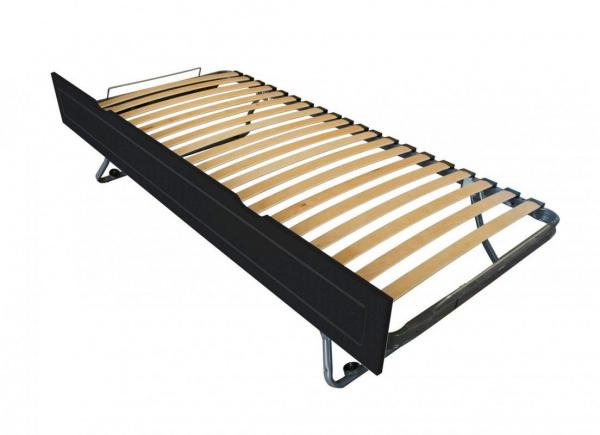 Tiroir lit sommier relevable pin noir 90x190 - abc meubles