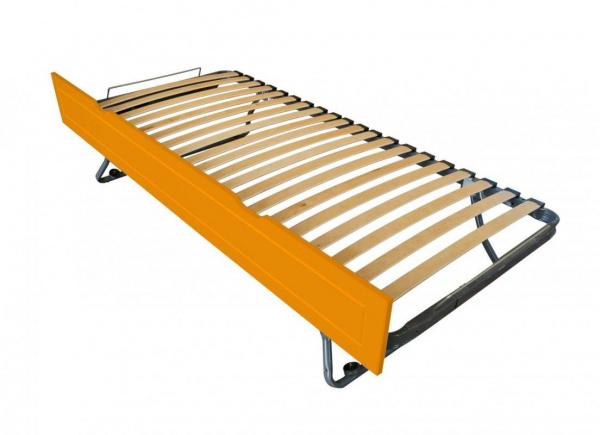 Tiroir lit sommier relevable pin orange 90x190 - abc meubles
