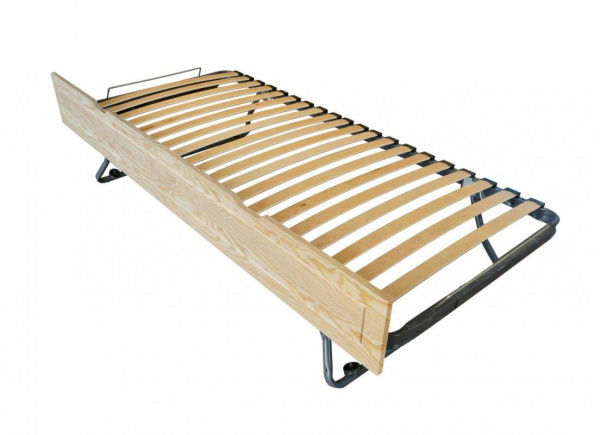 Tiroir lit sommier relevable pin vernis naturel 90x190 - abc meubles