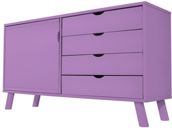 Buffet scandinave viking bois lilas - abc meubles