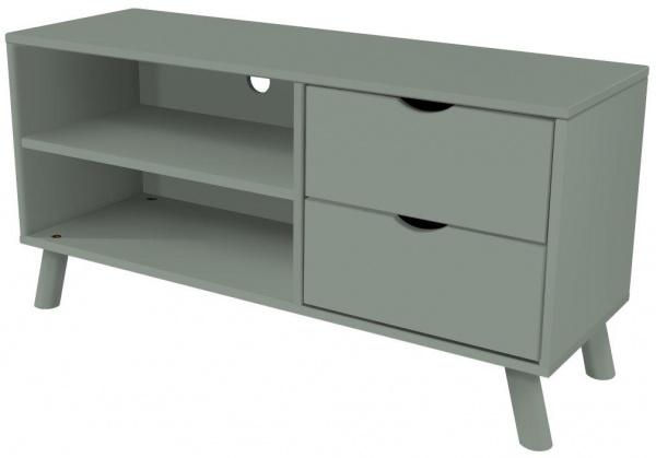 Meuble tv scandinave viking bois gris - abc meubles
