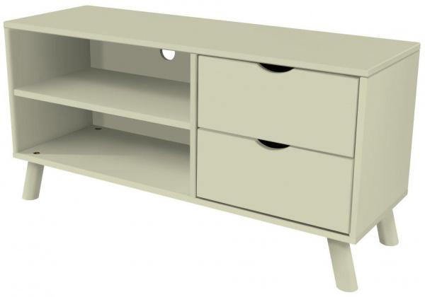Meuble tv scandinave viking bois moka - abc meubles