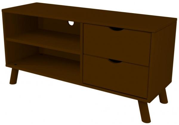 Meuble tv scandinave viking bois wengé - abc meubles
