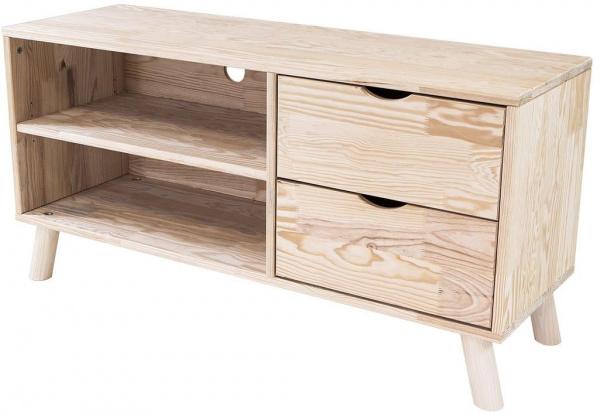 Meuble tv scandinave viking bois brut - abc meubles