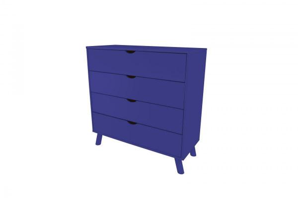Commode viking scandinave bois bleu foncé - abc meubles