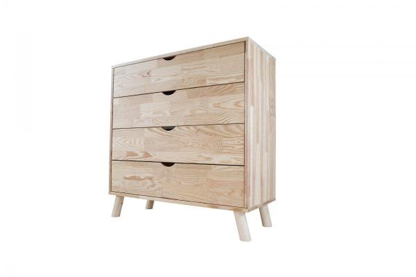 Commode viking scandinave bois brut - abc meubles