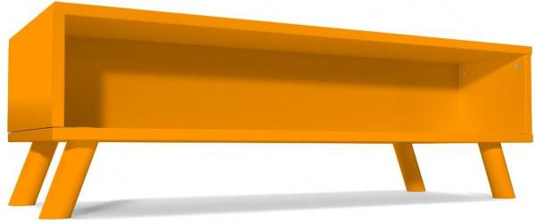 Table basse scandinave rectangulaire viking bois orange - abc meubles