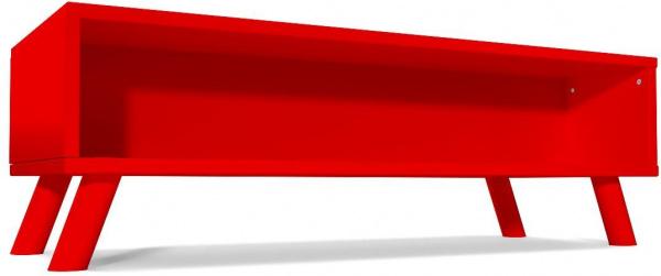 Table basse scandinave rectangulaire viking bois rouge - abc meubles