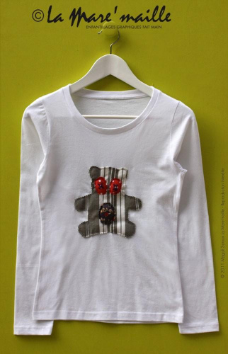 Tee-shirt femme motif ours taille S n°231