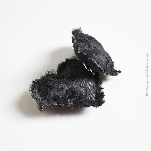 Pince cheveux dentelle noire