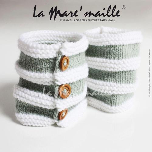 Guêtres bébé bohème laine vert