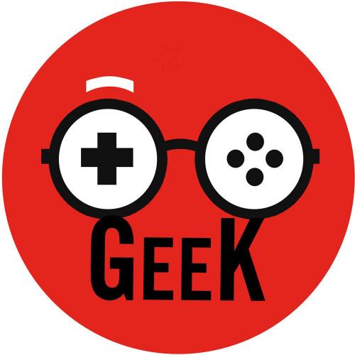 Sticker / autocollant : geek manette de jeu - 20cm