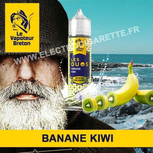 Banane Kiwi - Les Duos - Le Vapoteur Breton - ZHC - 50 ml