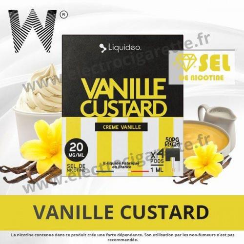 Vanille Custard - 4 x Pod 1ml - Wpod Liquideo