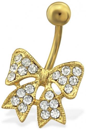 Mon-bijou - H29735 - Jolie piercing noeud en acier inoxydable doré