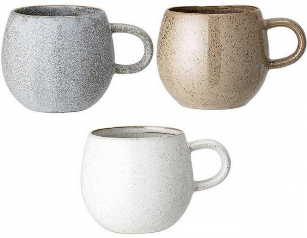 "Mugs ""Addison"" (x3), Ø10,5cm - Bloomingville"