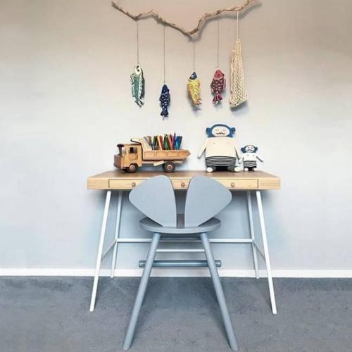 Chaise junior Mouse grise - hauteur réglable