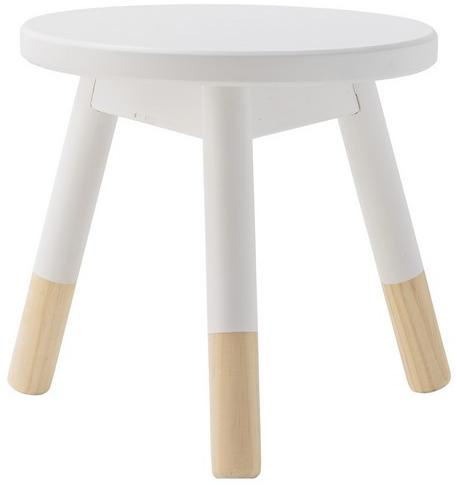Bloomingville Tabouret enfant Naturel/Blanc
