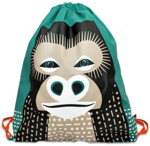 Coq en Pâte - Sac à dos Vert Imprimé Gorille