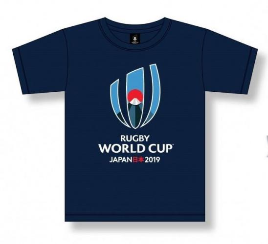 T-shirt Logo  Enfant bleu marine / RWC 2019