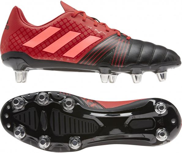 Chaussure Rugby Kakari SG 8 crampons Rouge-Noir / Adidas